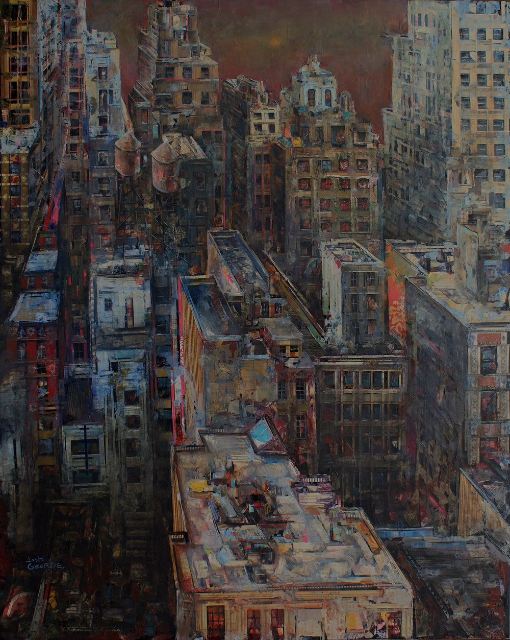 JOSH GEORGE %22Stars Move Aside%22 48%22 x 60%22 mixed media on canvas $7000 .JPG