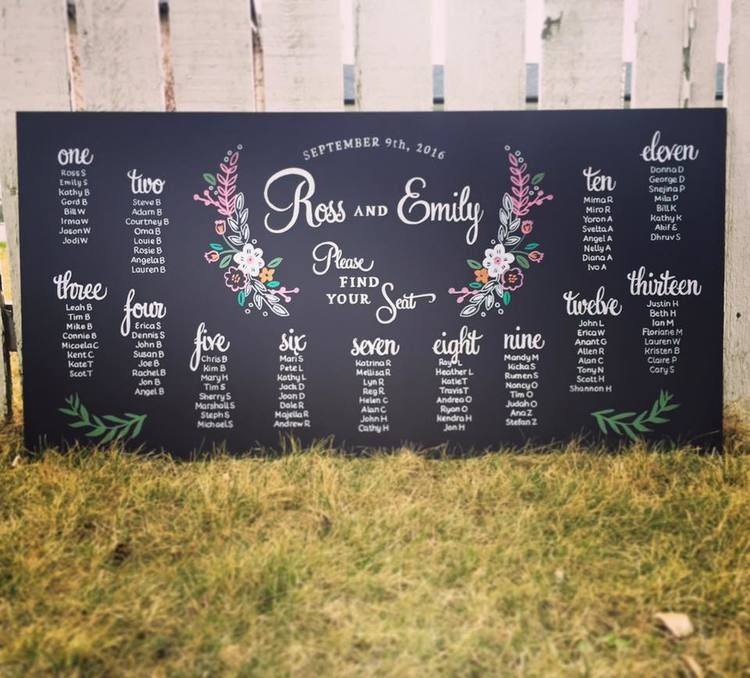 Seating charts for your toronto wedding chalkboards co calgary wedding seating chart chalkboardg junglespirit Image collections