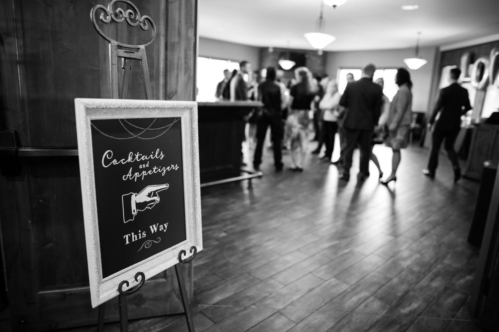 Multi-room venues require a bit of signage – it goes a long way! Photo courtesy of Emily Exon