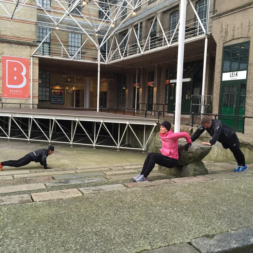 Træning i byens centrum!