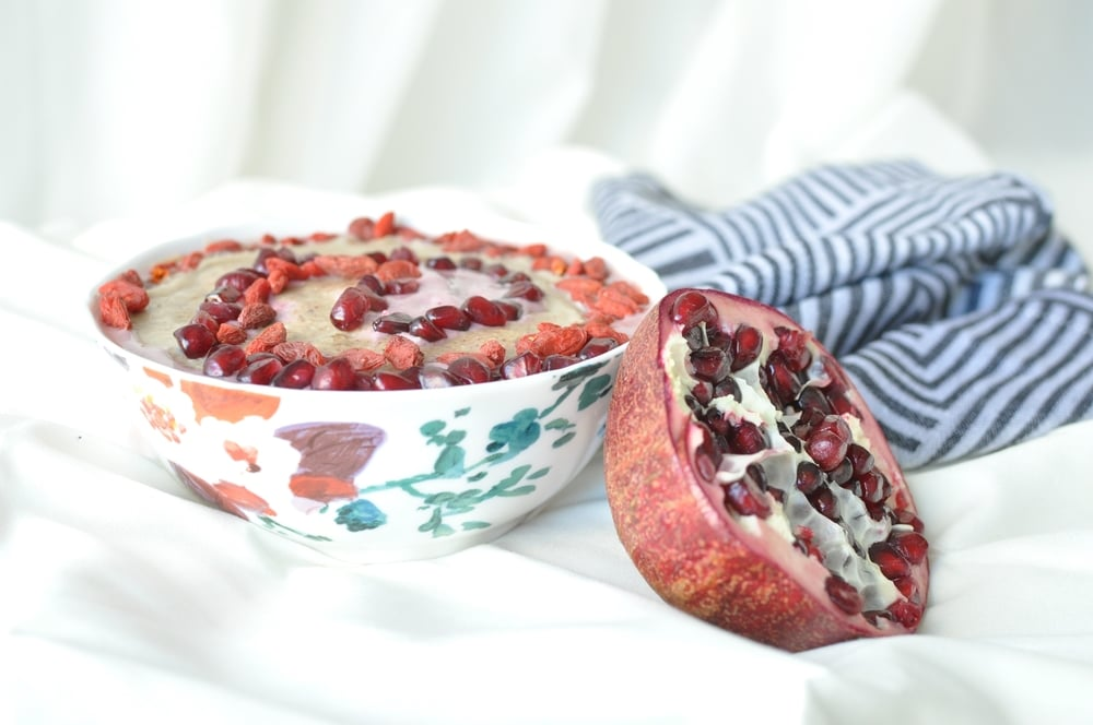 Almond Butter Berry Protein Smoothie Bowl