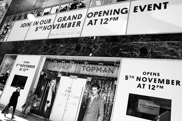 Topshop Topman opens largest US flagship on 5th Ave on November 5th
