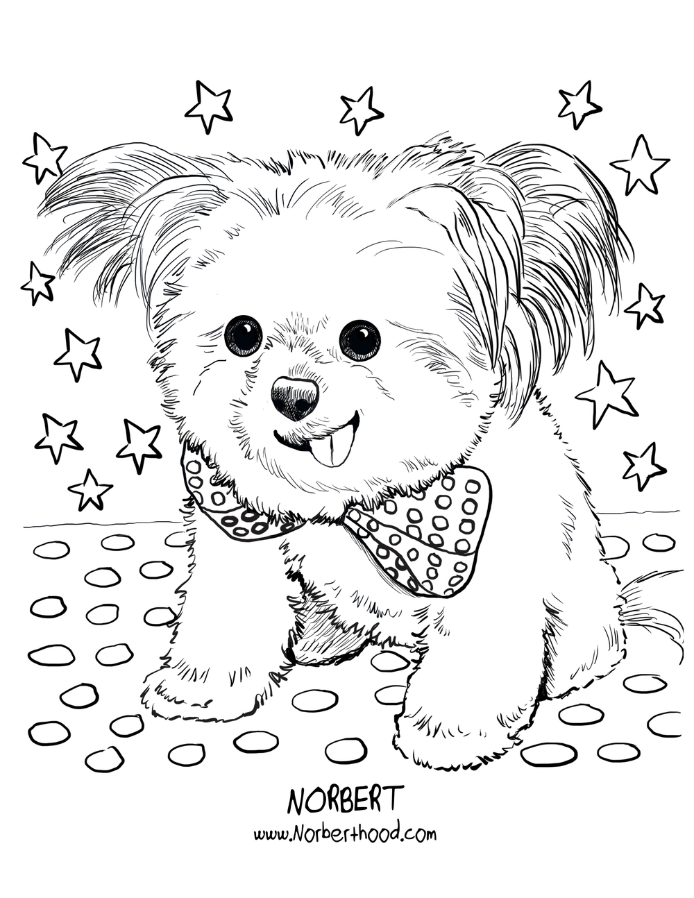 Norbert July coloring page_Polly Parker Press.jpg