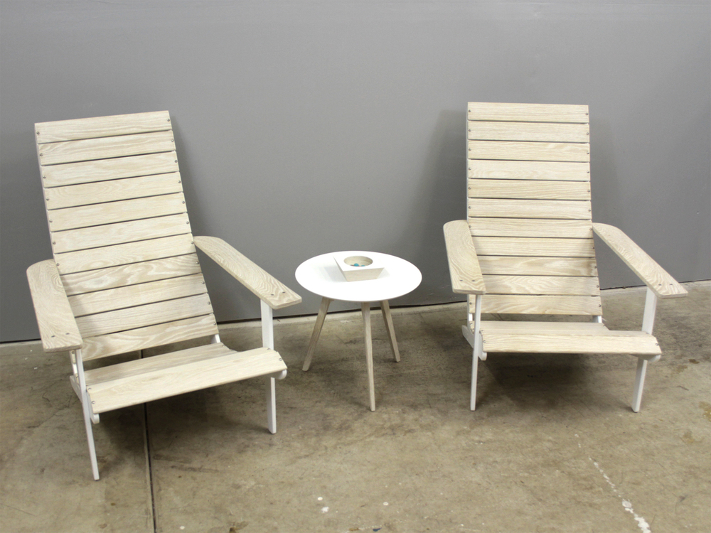 Delicieux MODERoNdack CHAIR Modern Interpretation Of An Adirondack Chair In Bleached  White Oak And Powder Coated Aluminum