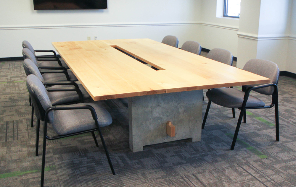 FedEx Conference Table Ryan Donohoe - Gray conference table