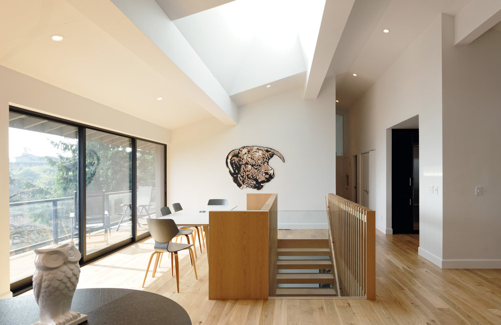 Council Crest Staircase — Ryan Donohoe on ideas for space under stairs, toilet under stairs, hidden storage under stairs,