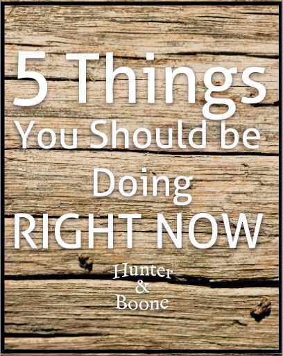 5 Things You Should Be Doing Right Now