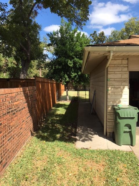 Front left side of yard pre-fence