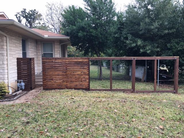 Horizontal Fence Progress