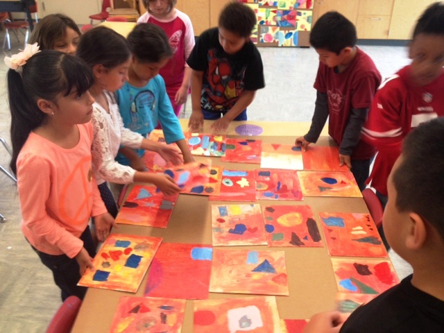 first grade class paintings.JPG