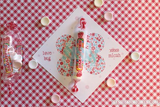 free, printable, valentine, smarties, love bug