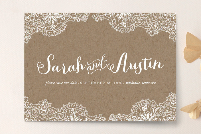 rustic charm save the dates by leslie ann jones for minted