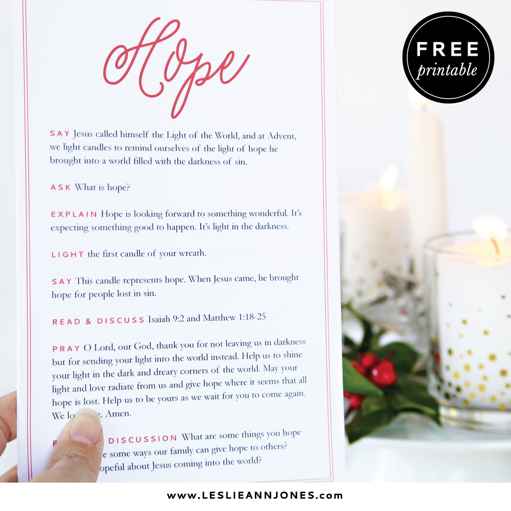 A simple free family advent wreath devotional leslie ann jones each weeks card explains the symbolism of the candle for that week and provides an appropriate scripture passage and short prayer to read aloud biocorpaavc