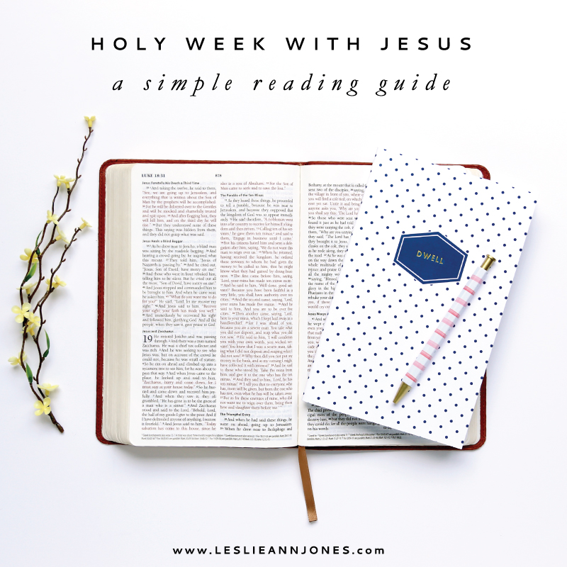 Holy Week With Jesus: A simple and free reading guide