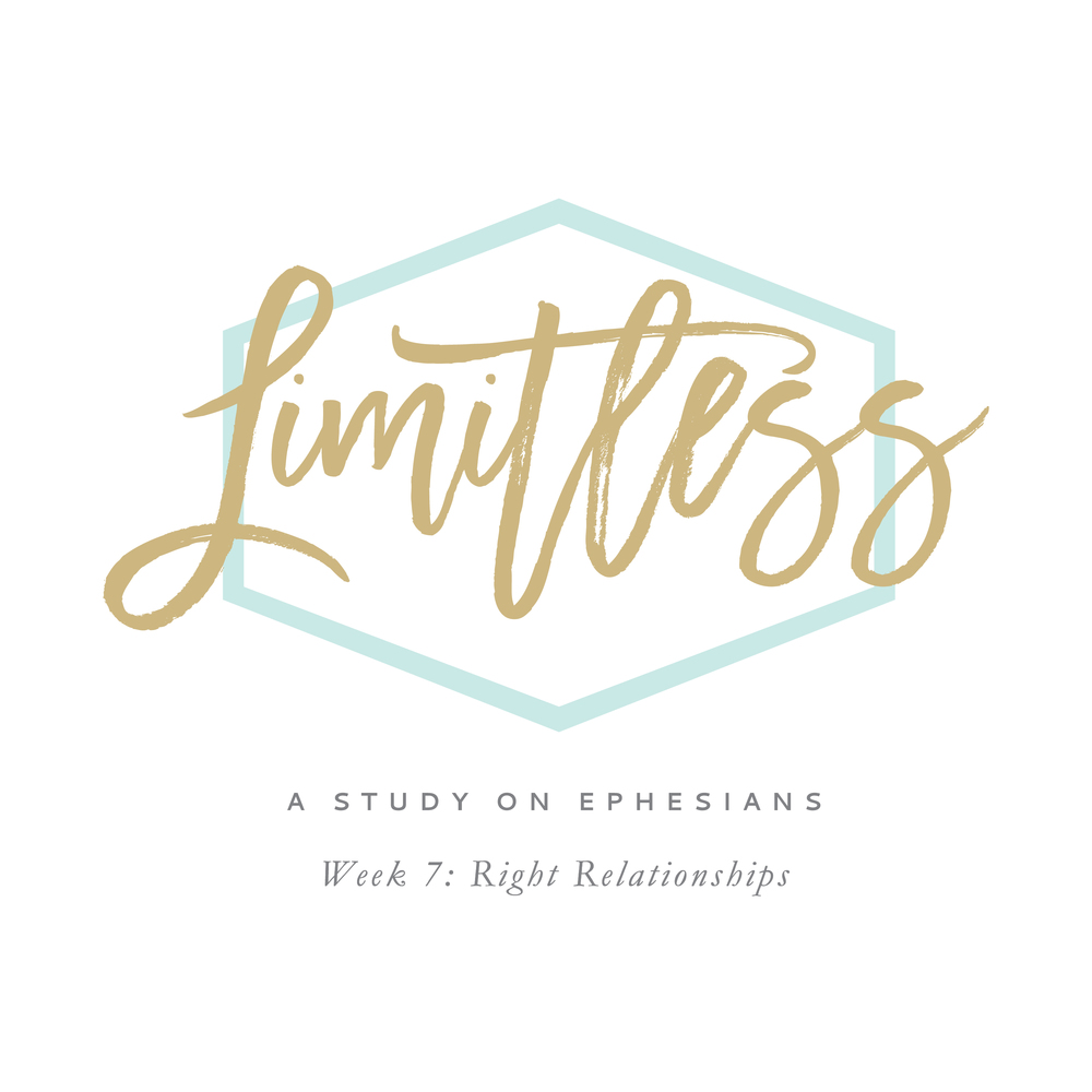 Limitless: A Study on Ephesians by Leslie Ann Jones. This podcast covers week 7 of material, found on page 39 of the workbook.