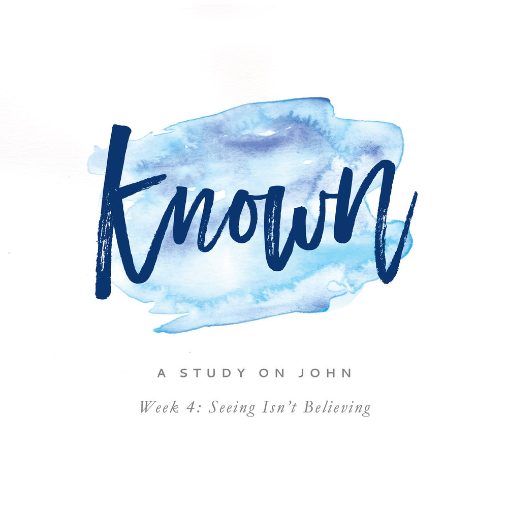 Known: A Study on John by Leslie Ann Jones. Week 4 Podcast. In this lesson, we discuss John chapters 5-7 and the rising opposition to Jesus, despite the signs and wonders he performs. As it turns out, seeing isn't believing. This teaching corresponds with the homework that begins on page 19 (Week 4: Seeing Isn't Believing) of the learner workbook, available for download at leslieannjones.com/known.