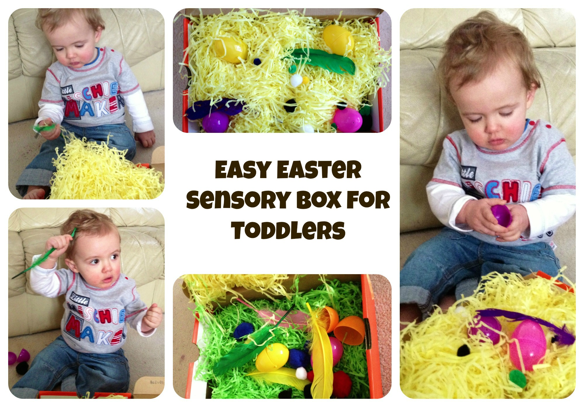 Easy Easter Sensory Box for Toddlers