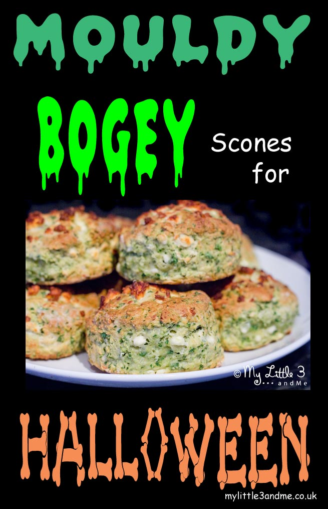 Mouldy Bogey Scones For Healthy Halloween Fun - My Little 3 and Me