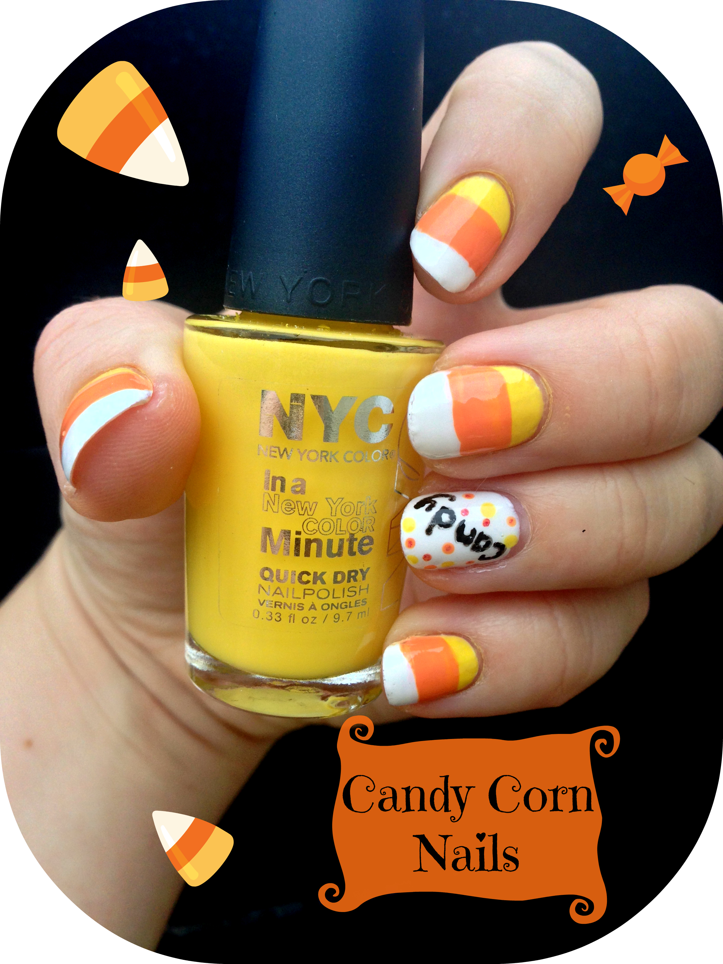 Candy Corn Nails – Halloween Series