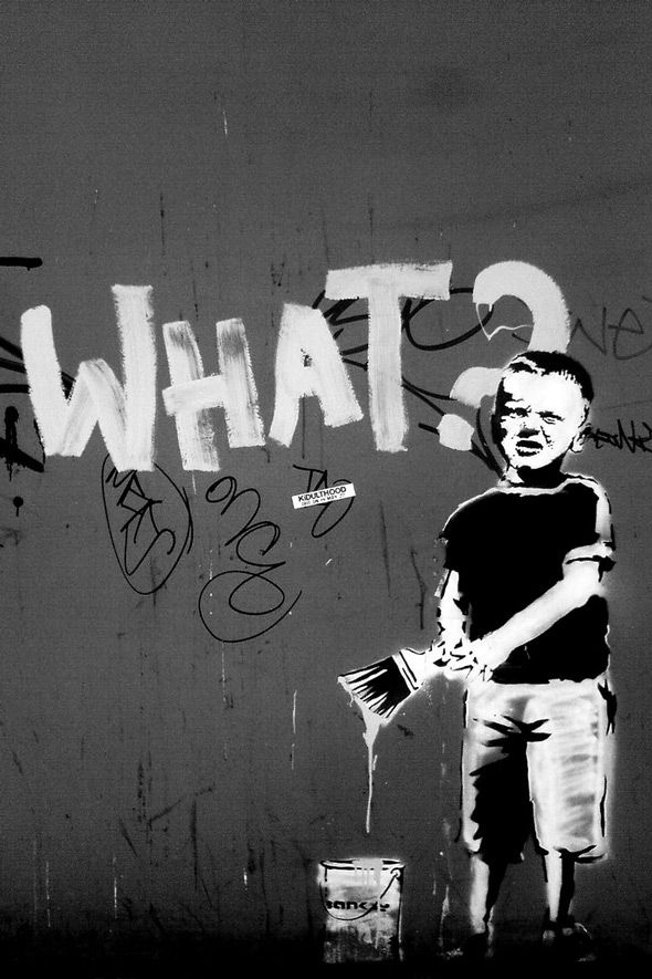 Is Banksy's street art cool for kids? - Over there to Here