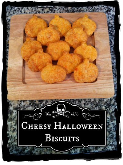 Recipe for Savoury Halloween Cheese Biscuits