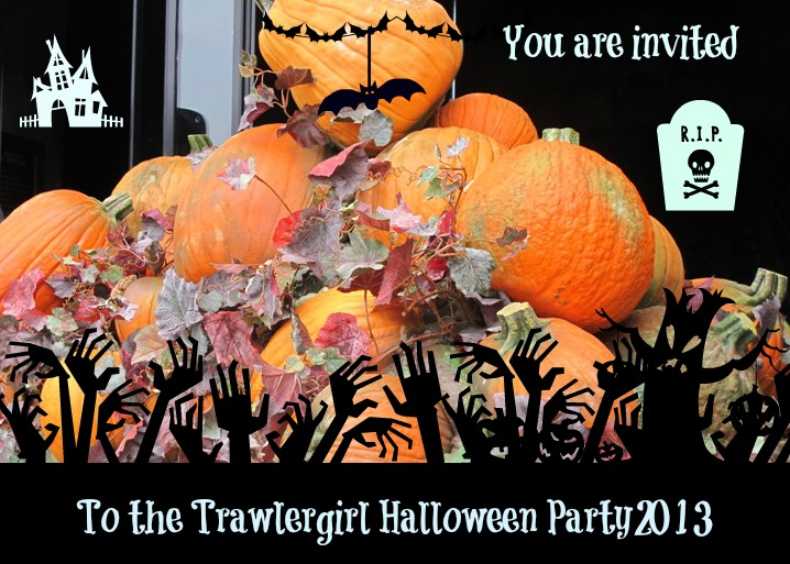 Your Invitation to the Trawlergirl Halloween Party 2013