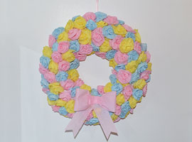 DIY Spring Wreath with Tissue Paper Roses