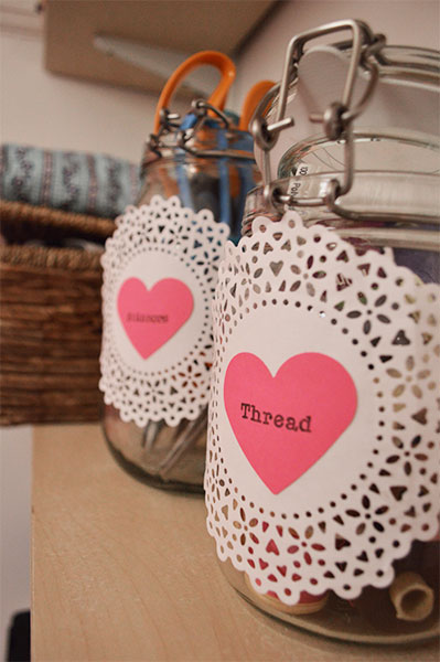 Things To Do With Doilies #2: DIY Jar Labels