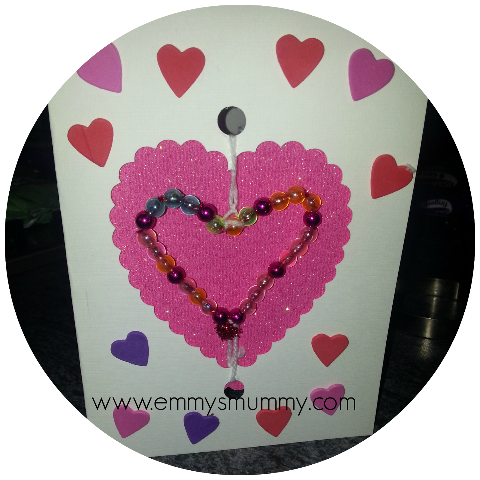 How to make a beaded Valentine's Day card