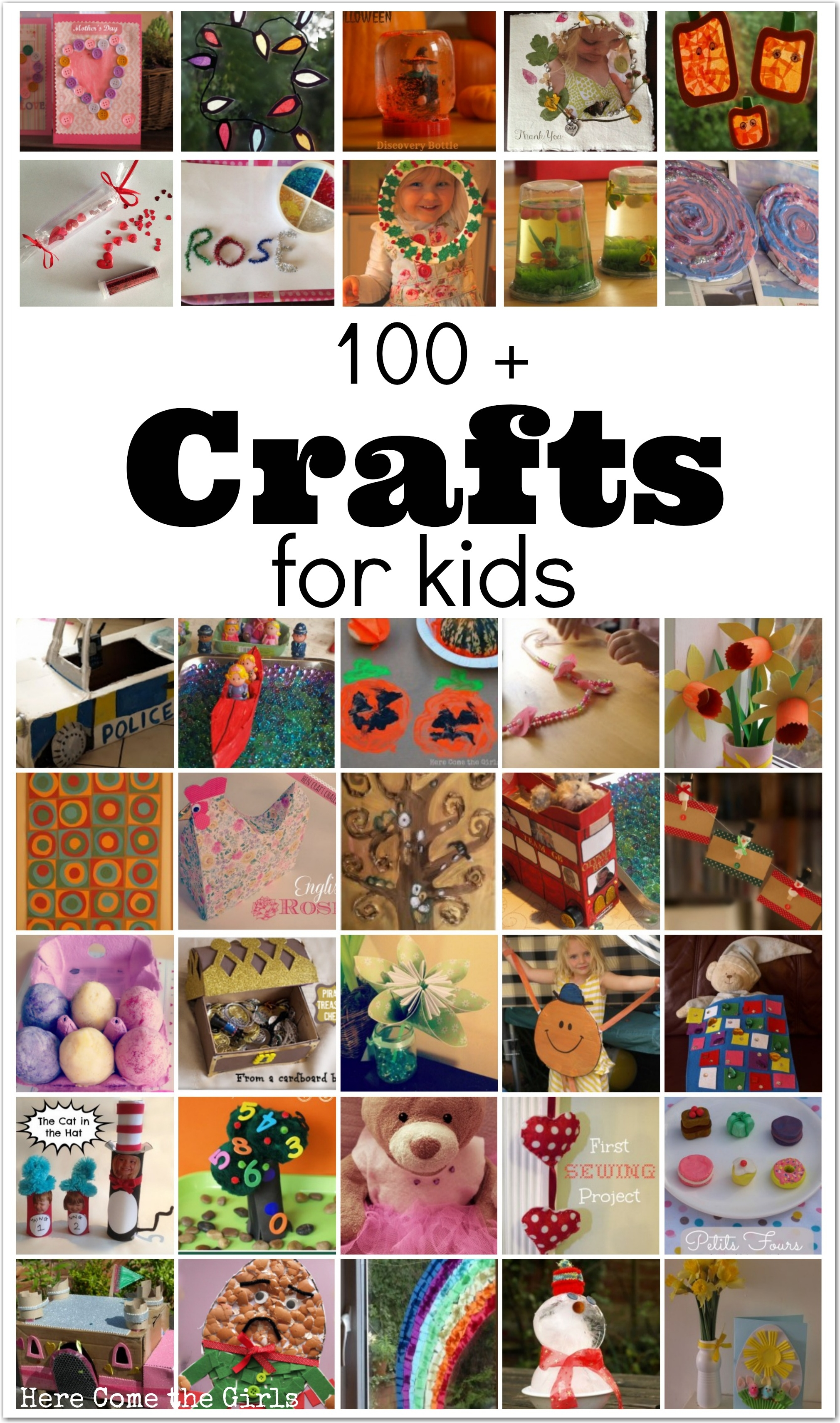 100+ Crafts For Kids - Here Come the Girls
