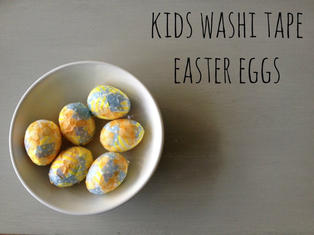 Kids Washi Tape Easter Eggs - Crafts on Sea