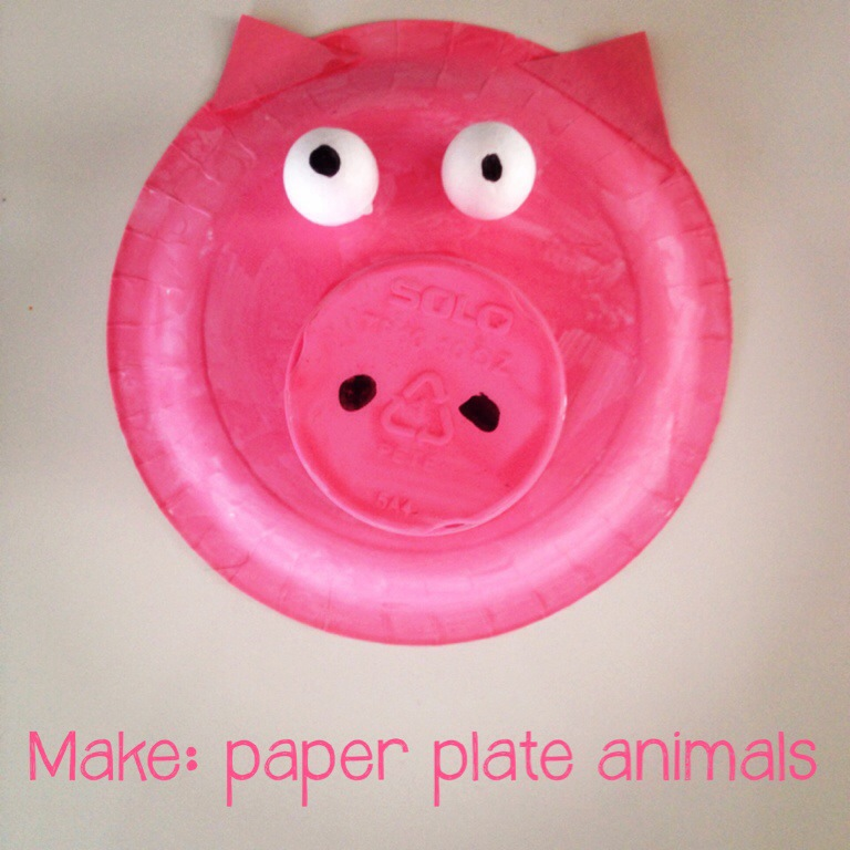 mumturnedmom: Make: paper plate animals