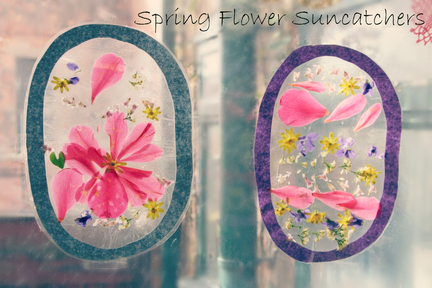 Spring flower sun catchers - This Enchanted Pixie //