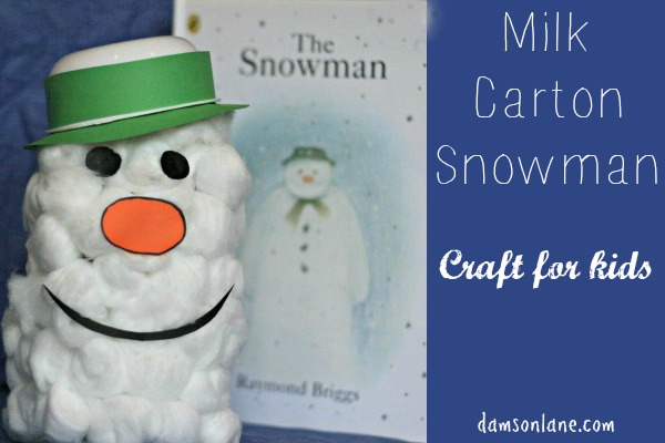 Milk Carton Snowman Craft for Kids