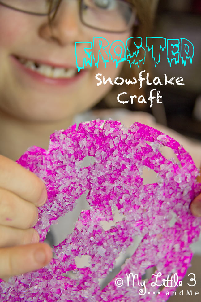 Frosted Snowflake Craft For Kids - My Little 3 and Me