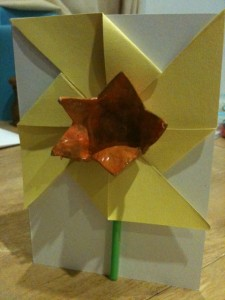 Daffodil card for Mothering Sunday