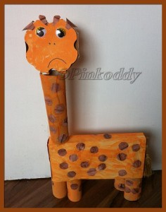 The Sad Giraffe - recycled materials