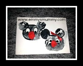 Vegetable Printing Mickey & Minnie Mouse cards