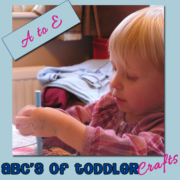 Toddler Crafts ABC Series - A to E