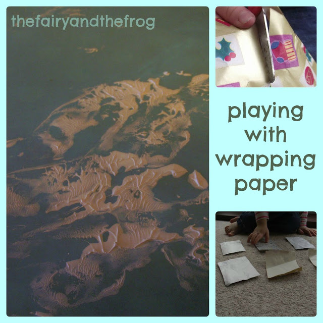 Playing with wrapping paper