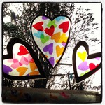 Easy Heart Window Decorations - Here Come the Girls