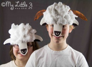 Make Paper Plate Lamb and Sheep Masks - My Little 3 and Me