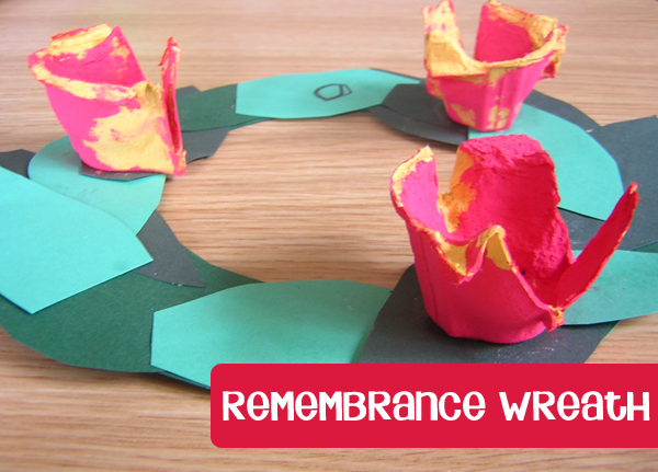 Remembrance day wreath craft for young children