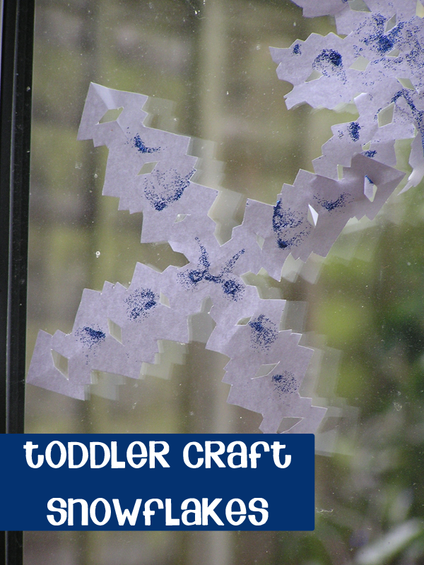 Toddler Craft for Christmas - Paper Snowflakes