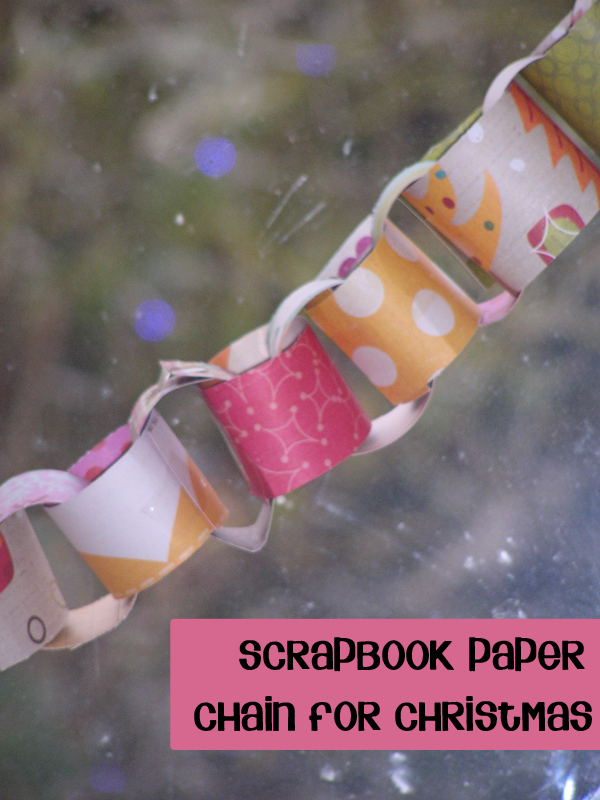 Scrapbook Paper Chain craft for Christmas