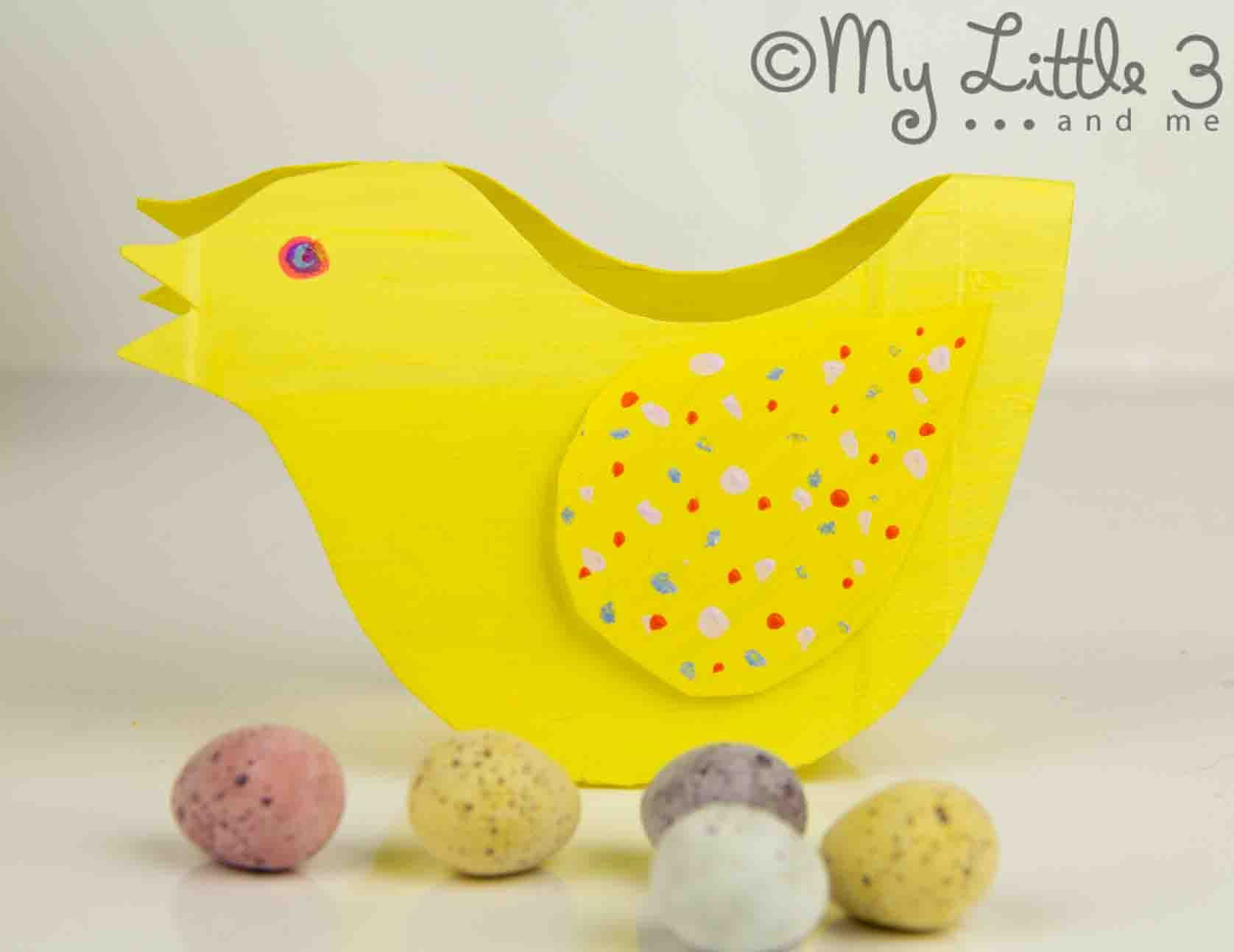 Rocking Easter Chicks - recycled craft - My Little 3 and Me