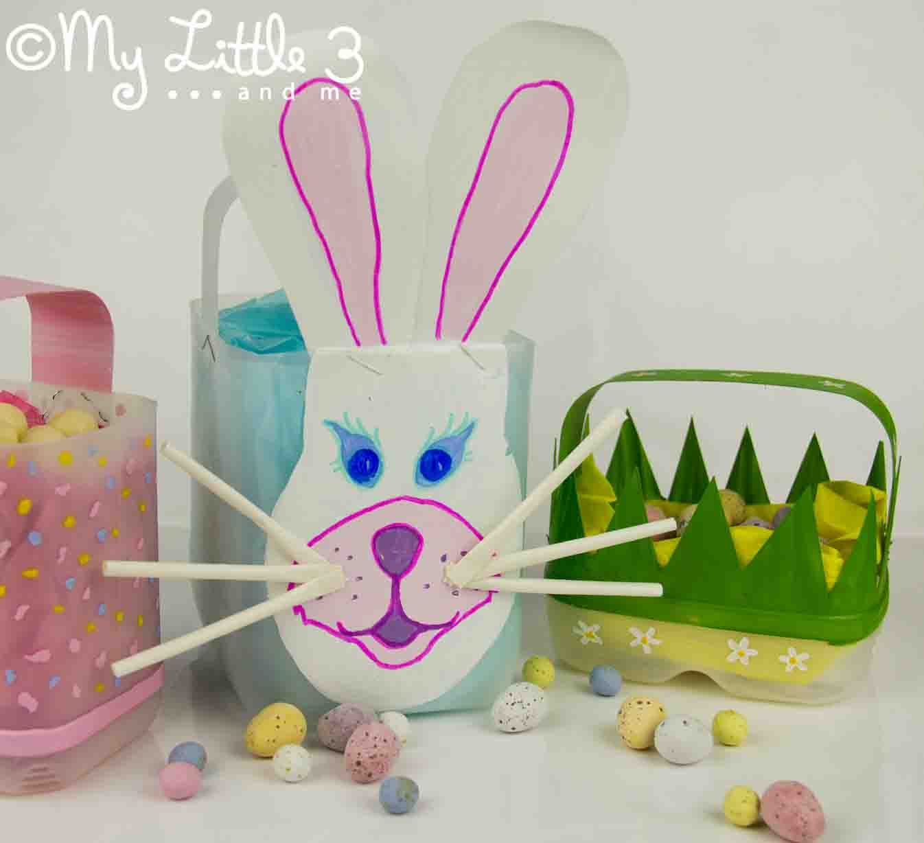 Homemade Easter Baskets - My Little 3 and Me
