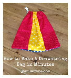 How To Make a Simple Drawstring Bag in Minutes!
