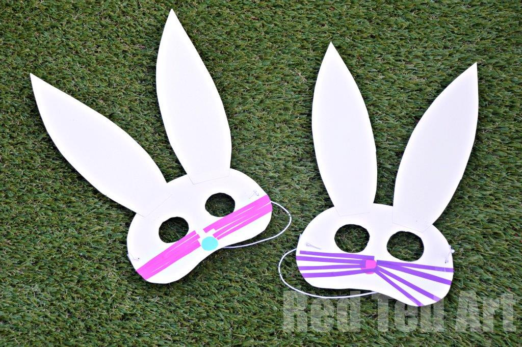 Easy Easter Bunny Masks - Red Ted Art's Blog
