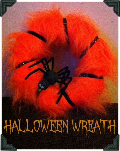 How to make a halloween spider wreath